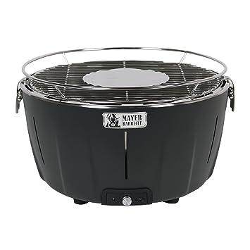 Mayer Barbecue BRENNA Barbacoa de mesa a carbón sin humo MTG-201, color negro