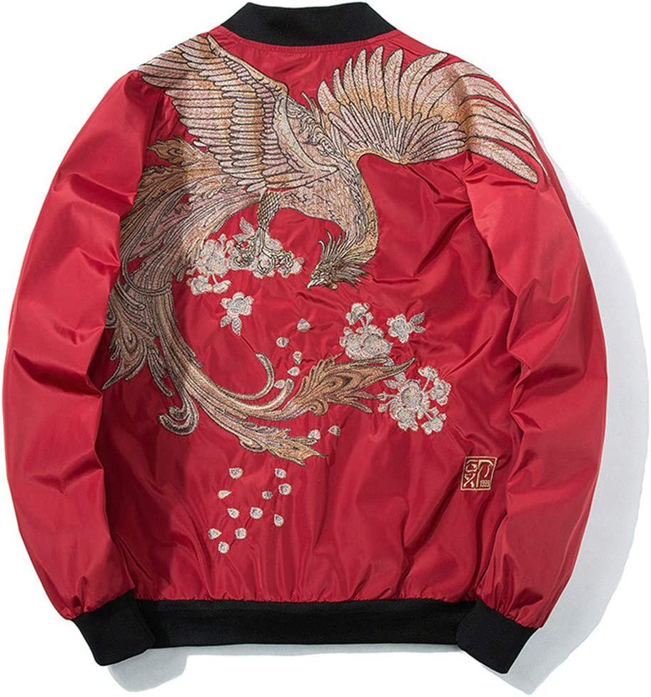 Spring Pilot Bomber Jacket Men Women Bird Embroidery Baseball Jacket Casual Youth Couples Coat Streetwear