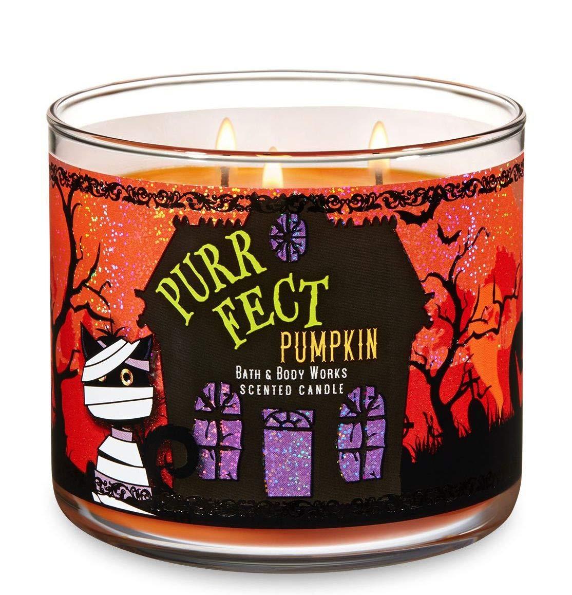 Bath & Body Works 'Purrfect Pumpkin' Halloween 3-Wick Candle - Sweet Cinnamon Pumpkin