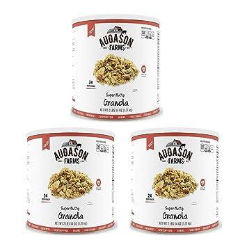 Amazon.com : Augason Farms Super Nutty Granola 2 lbs 14 oz No. 10 ...