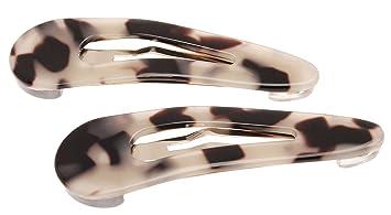 Erickson Cliq Claq Snap Clip Pair in Ivory Tokyo and Silver Tone L