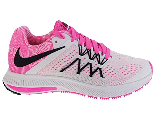... best price nike womens zoom winflo 3 premium white black pink blast  wolf grey nylon 372c2 ... 56ec0445b4