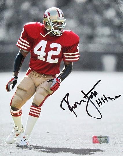 pretty nice b4480 d7f1e Ronnie Lott Autographed/Signed San Francisco 49ers Iconic ...