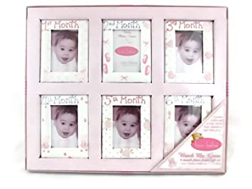 Amazoncom Bon Bebe Watch Me Grow Pink Photo Frame Gift Set Home