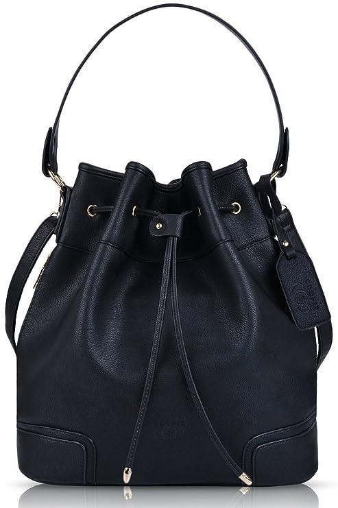 b13c6ad6f20b Buy Coofit Drawstring Bucket Bag Leather Bucket Crossbody Bag Original  Design Shoulder Bag Handbag for women Online at Low Prices in India -  Amazon.in