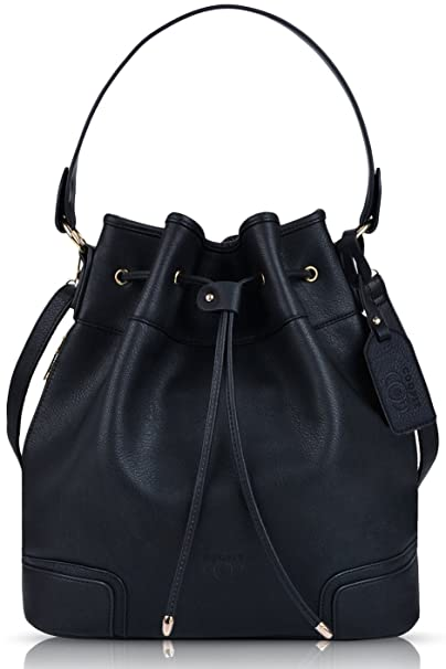 f81a844c3b COOFIT Drawstring Handbag Bucket Bag Leather Crossbody Bag Original Design  Shoulder Bag Handbag for women