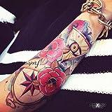 "Tatouage Temporaire ""Future - Skull Flowers"" - ArtWear Tattoo - B0019 M"