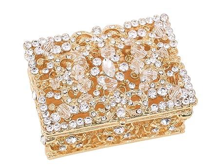 """Arras de boda de 2,5 """"Set, Oro Arras caja con monedas"""