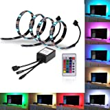 Amazon Price History for:EveShine Bias Lighting TV Backlight for HDTV LED Strips Led Lights with Remote Control, 2 RGB LED Strip Home Multi Color RGB LED Neon Accent TV Lighting for Flat Screen TV Accessories, Desktop PC
