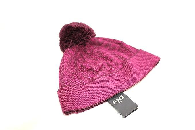 Fendi Cappello PON PON logato FF Nuova Collezione  Amazon.it  Abbigliamento 09881ff7aae2