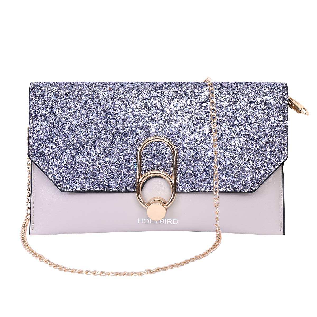 Women's Sequins Handbag Wedding Bag Wristlet Wallet for Girls Clutch Party Shoulder Bag