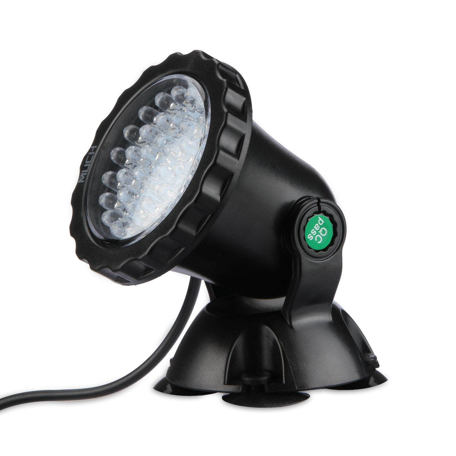 MUCH 36 LED Pond Lights Waterproof IP68 Submersible Spotlight Underwater Lights 2.5W Color Changing Spot Light for Aquarium Garden Pond Pool Tank