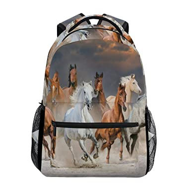 ca902c63be Image Unavailable. Image not available for. Color  Backpack Travel Horse  Sky School Bookbags Shoulder Laptop Daypack College Bag for Womens Mens  Boys Girls