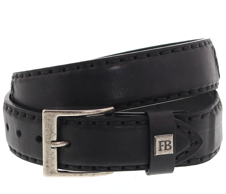 Fashion FB Stiefel Unisex Gürtel FG3005 LUKE Codet Schwarz Ledergürtel