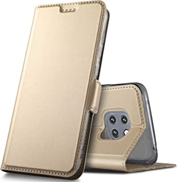 Geemai Funda Huawei Mate 20 Pro Funda, Multi-ángulo Slim Protectora PU Funda. para Huawei Mate 20 Pro Smartphone.(Oro): Amazon.es: Electrónica
