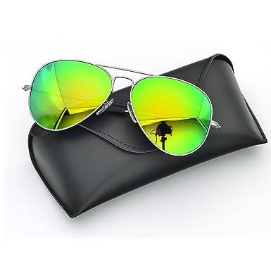 db4ab41df5a BNUS Italy made Aviator titanium sunglasses for men womens w. corning  natural glass truecolor polarized