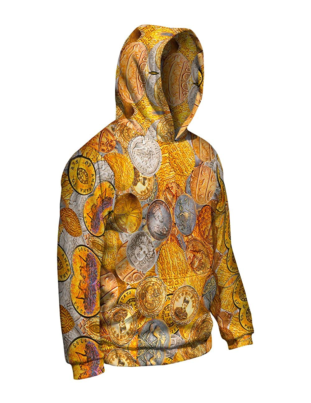 Allover Print Yizzam Antique Coins Mens Hoodie
