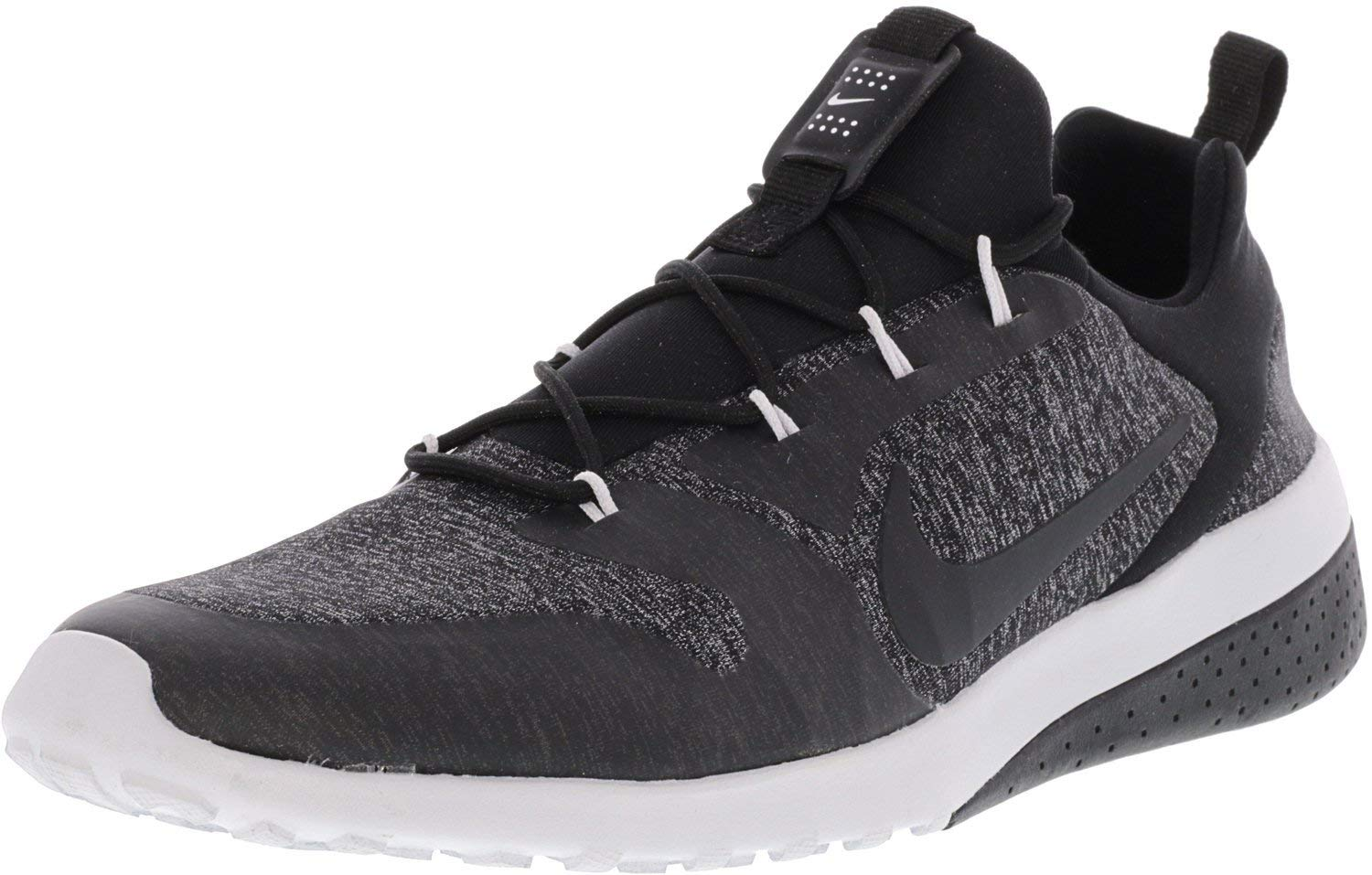 NIKE Womens Ck Racer Low Top Lace Up Running, Black/Black White, Size 8.5