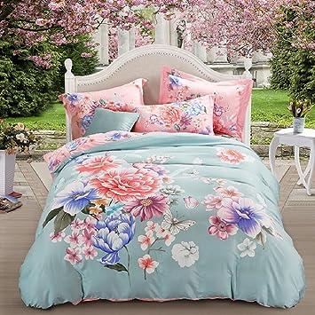 Zn Bettwäsche Doppelseitige Tencelgebürstetes Material Bett 4