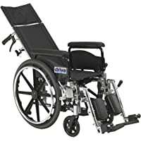 Drive Medical Viper Plus Gt Full Reclining Wheelchair, Full Arms, 18-inch Seat Width, 1 Each 1 count