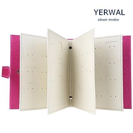 Amazoncom Yerwal Earrings Organizer Earrings Book Portable
