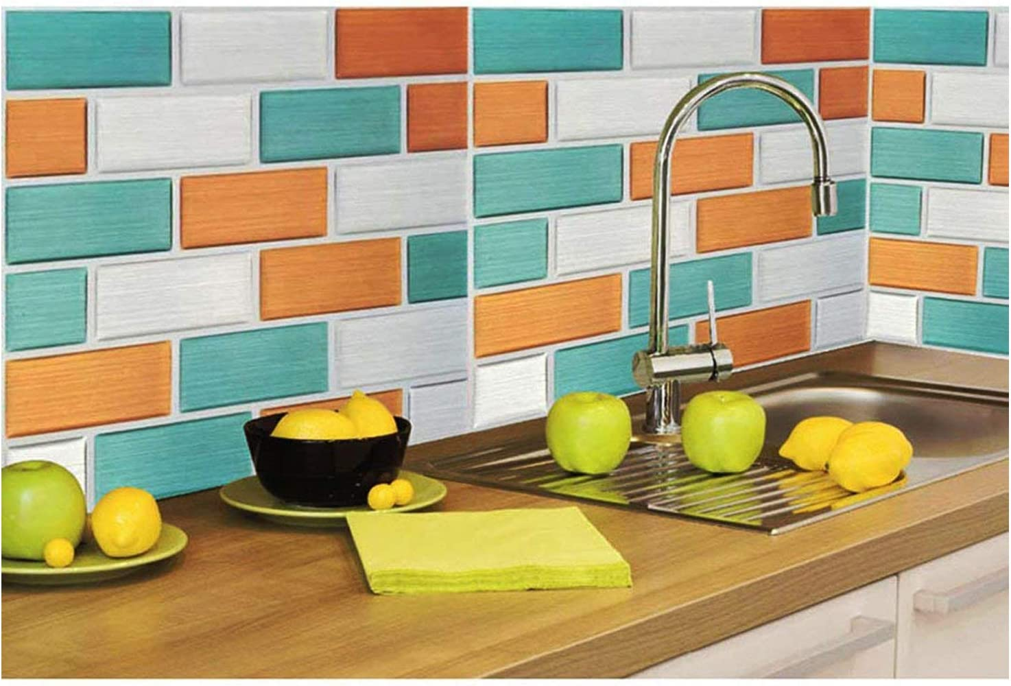 - Amazon.com: Backsplash Peel And Stick Tile Stickers Decals
