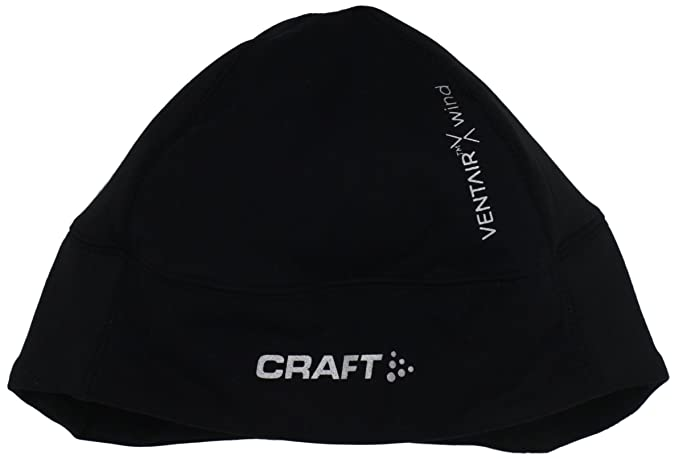 8541413fa4bd4 Craft Sportswear Unisex VentAir X Windproof Reflective Helmet Fitted Beanie  Hat  accessory wicking