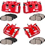 4 REAR CCK12331 FRONT Performance Grade Powder Coated Red Caliper Assembly Set Kit