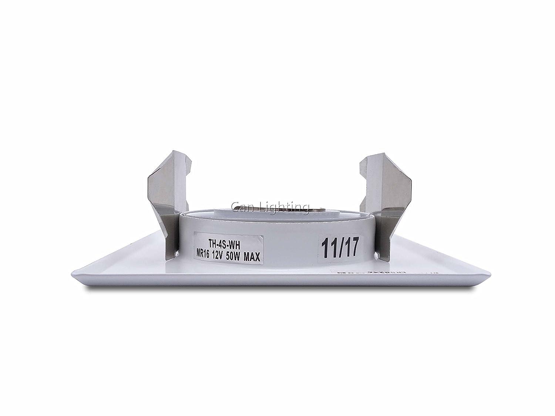 pack of 2 pieces recessed lighting 4 inch par16 mr16 gu10 trim