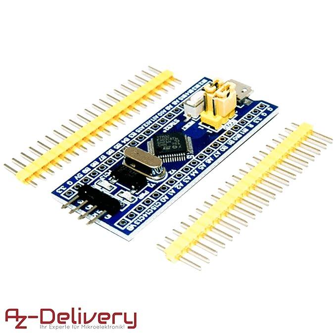 AZDelivery ????? STM32 STM32F103C8T6 modulo de Placa de Desarrollo con procesador Arm Cortex M3 para Arduino con ebook Gratis