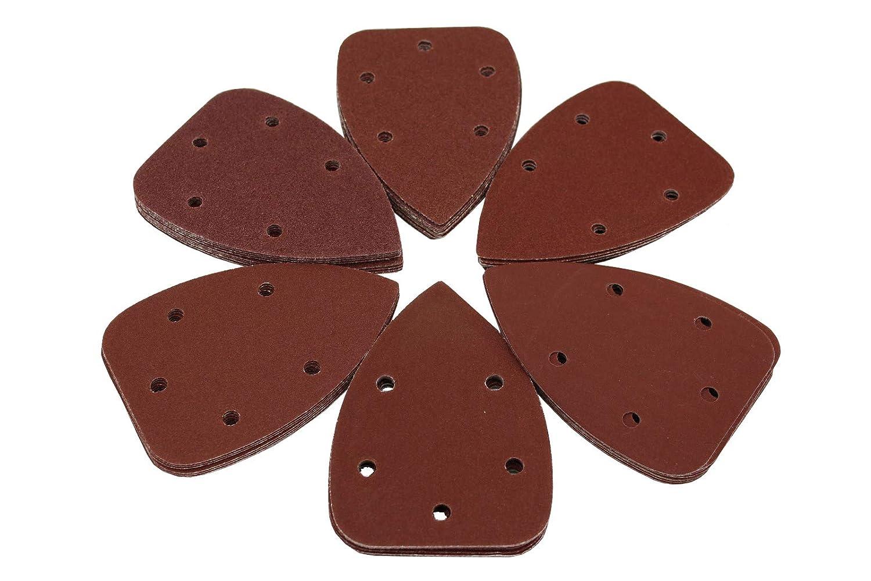 K240 K60 K120 120 Blatt Schleifpapier 92x140mm Delta Schleifscheiben 5-Loch in 6 K/örnungen pro Packung je 20 x K40 K80 Multi K180