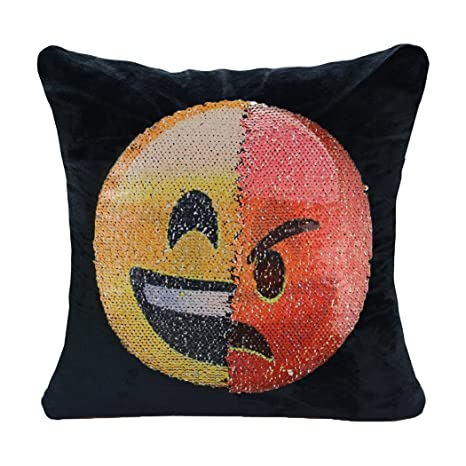 Amazon.com: Emoji funda de almohada guigu doble cara ...
