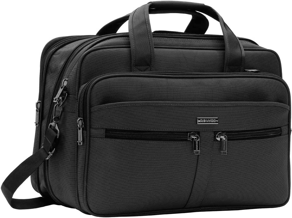 Laptop Bag Briefcase Travel Bag Expandable Large Durable Office Bag Water-Repellent Business Messenger Bag Shoulder Bags for Travel/Business/School/Men/Women/luggage Fits 17 Inch Laptop Computer Table