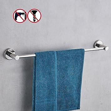 Amazoncom BESy No Drill Bathroom 24Inch Towel Bars Towel Shelf