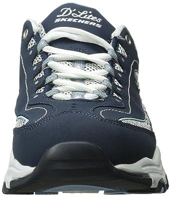 b2d1761ec8dd7 Amazon.com   Skechers Women s D Lites Memory Foam Lace-up Sneaker   Fashion  Sneakers
