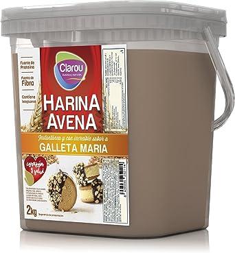Harina de avena - 2Kg - Sabor Galletas Maria con leche: Amazon.es: Alimentación y bebidas