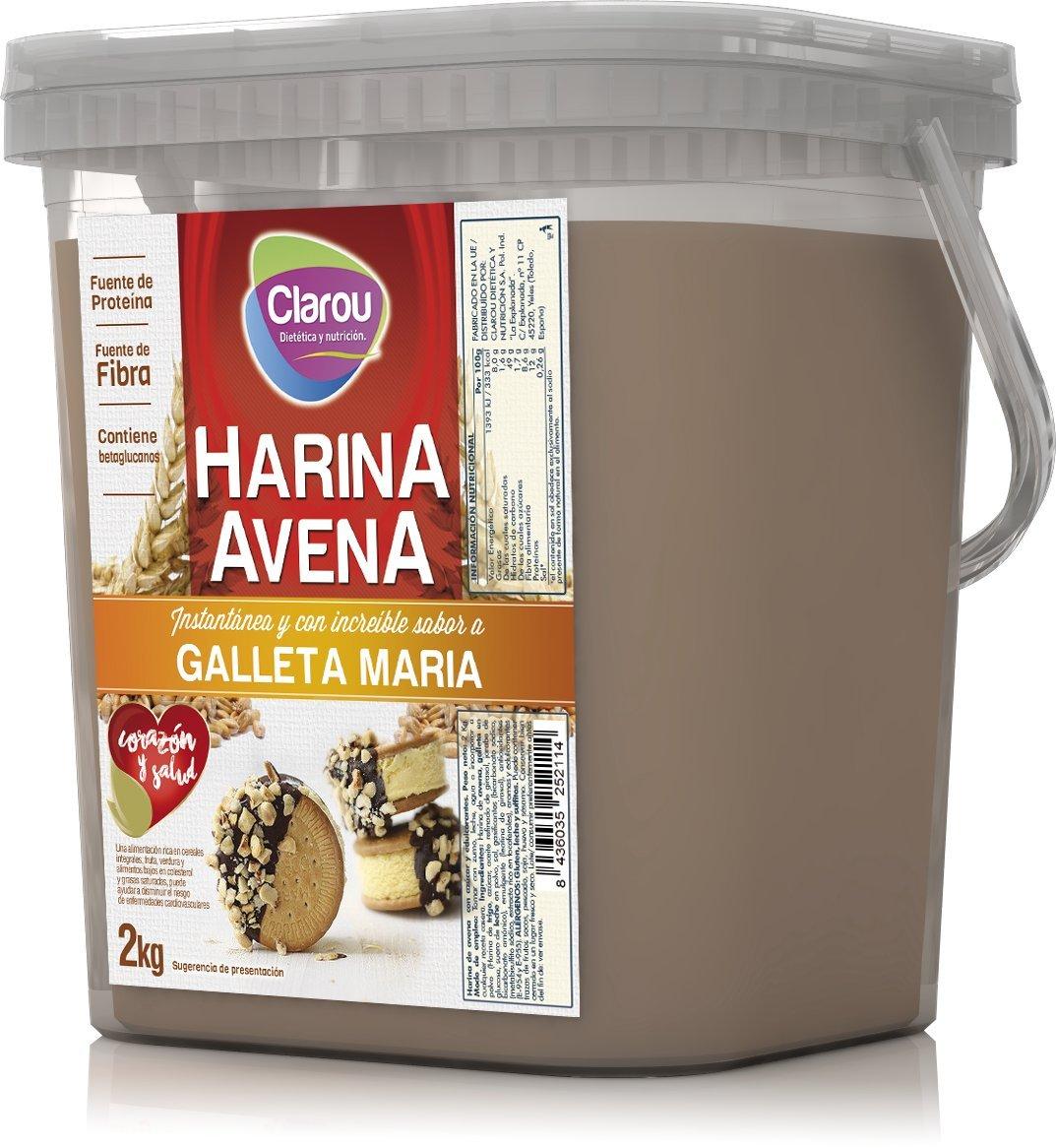 Harina de avena - 2Kg - Sabor Galletas Maria con leche