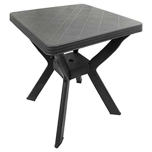 Mesa de Camping - Bistro Mesa plástico - 70 x 70 cm - Antracita ...
