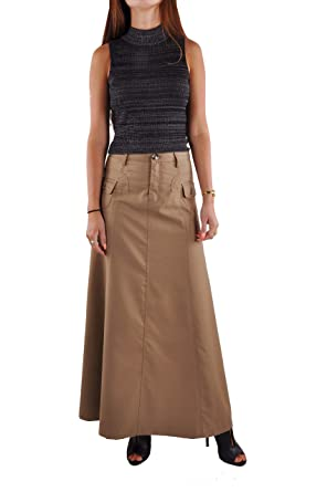 48fe4ffadf 18 Skirts Style J Just Chic Khaki Long Skirt-Beige-38