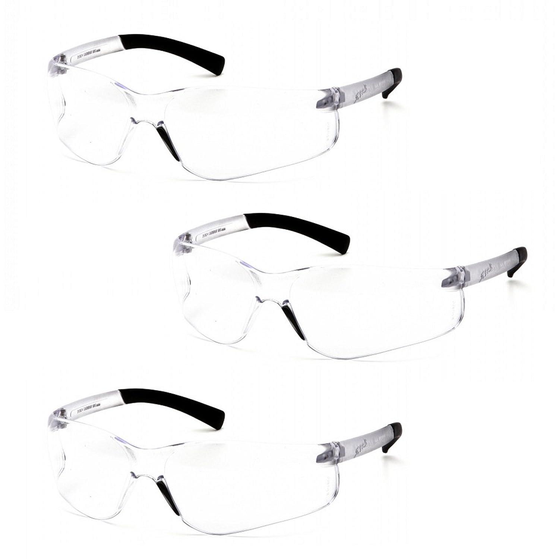 Pyramex Ztek Bifocal Reader Safety Glasses with Clear Lens S2510R25 (3 Pair) (+2.5 Lens)