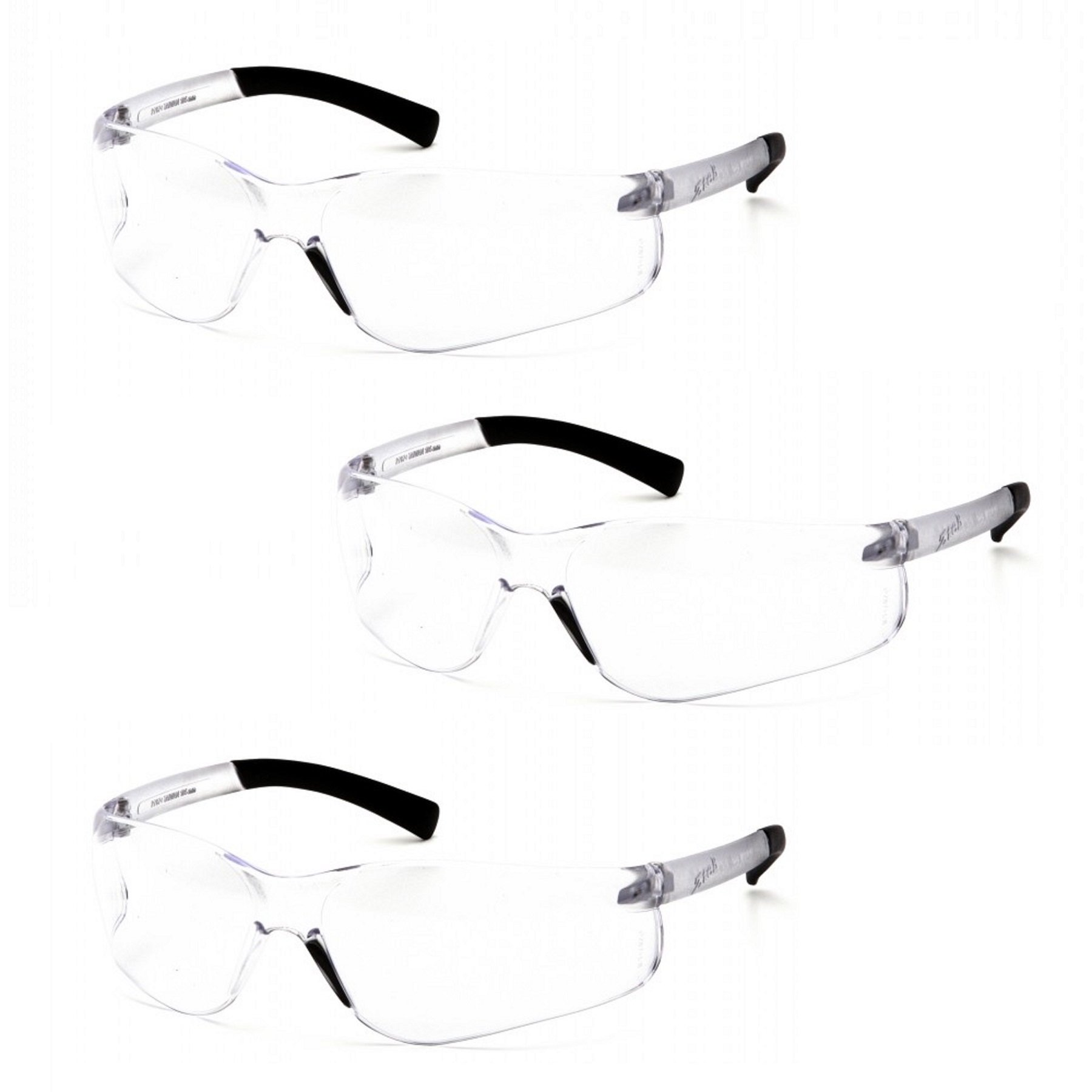 Pyramex Ztek Bifocal Reader Safety Glasses with Clear Lens S2510R15 (3 Pair) (+1.5 Lens) by Pyramex