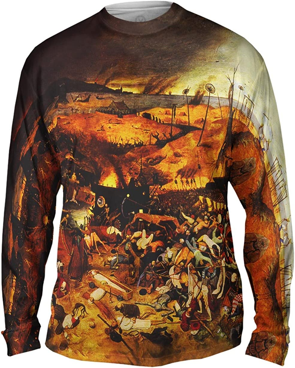 Yizzam- Bruegel - Triumph of Death (1562) -Tshirt- Mens Long Sleeve