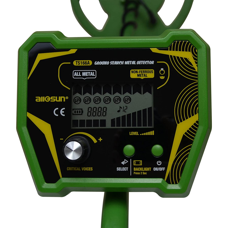 Amazon.com : allsun Ground Metal Detector Professional Treasure Hunter Search Coin LCD Display : Garden & Outdoor