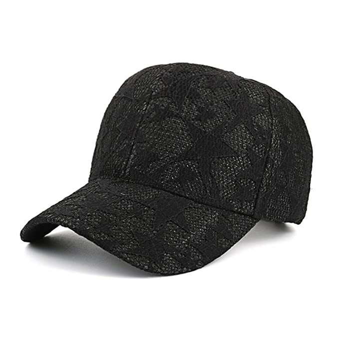 Women`s Baseball Caps Lace Sun Hats Breathable Mesh Hat New Gorras Summer Cap at Amazon Womens Clothing store: