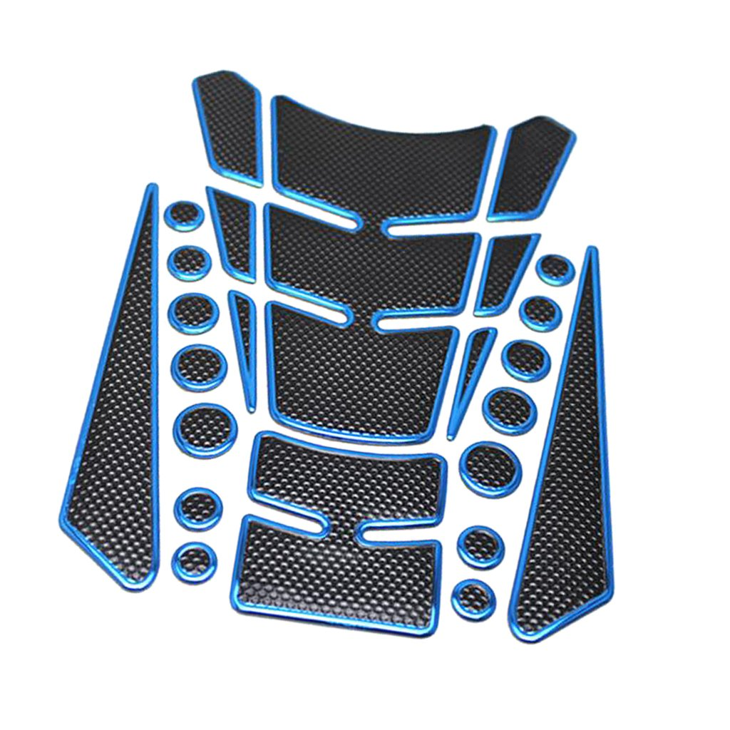MagiDeal Universal Motorcycle Gas Fuel Tank Protector Pad Fish Bone Sticker for Suzuki/Honda