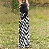 Dresses for Womens, WOCACHI Women's Plaid Long