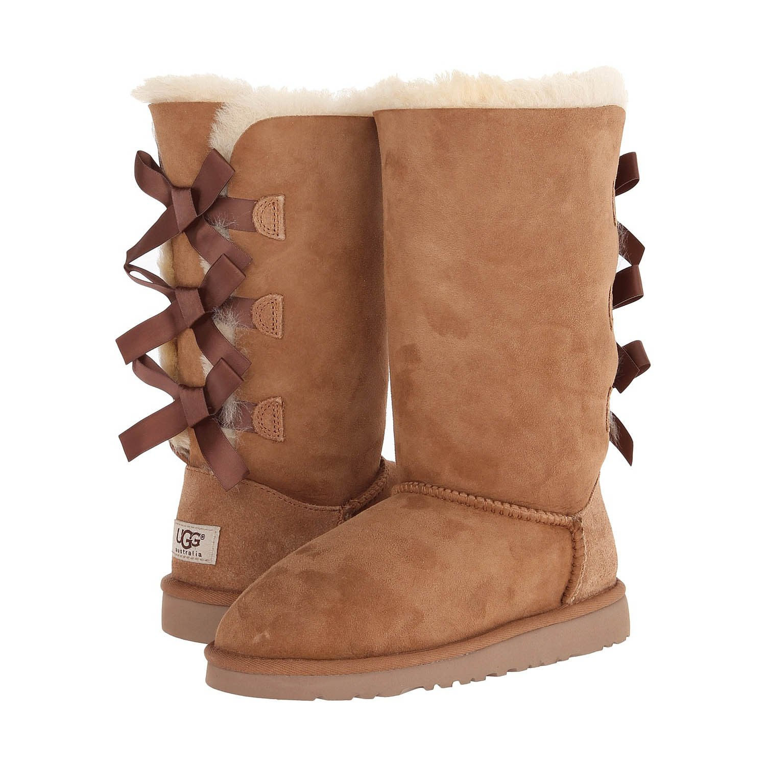 UGG® Australia New Bailey Bow Tall Chestnut 1 Kids Boots