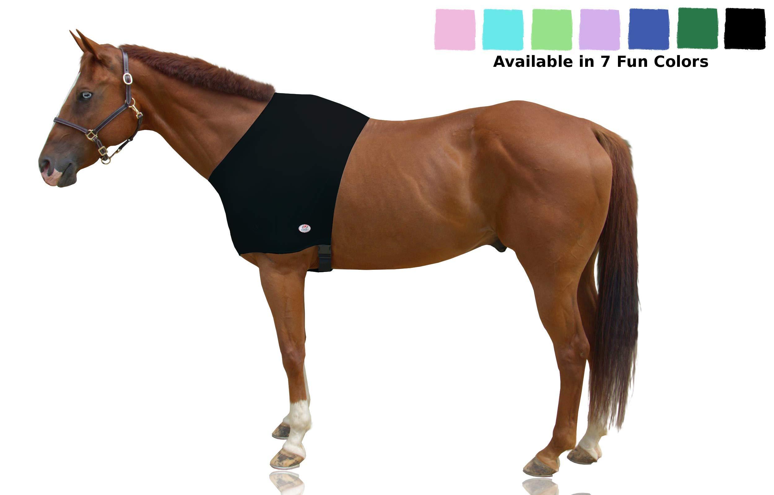 Derby Originals Lycra Horse Shoulder Guard, Black, Medium