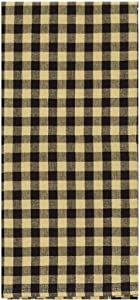 """Home Collection by Raghu Heritage House Check Black and Nutmeg Towel, 18 by 28"""" Set of 6"""