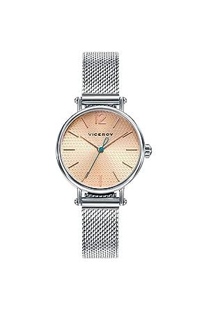 Viceroy Reloj Analogico para Mujer de Cuarzo con Correa en Acero Inoxidable 471120-95: Amazon.es: Relojes